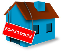 Foreclosure Sign on House (Photomuse) Tags: foreclosuresign house bluehouse illustration artwork graphics retro elmira ontario canada can