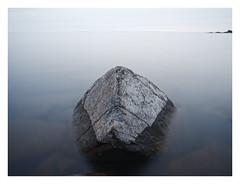 Rock (brnpttmn) Tags: granite lakesuperior water longexposure dusk minnesota sonya7 zeissloxia21mmf28 nd400 nature e loxia2821
