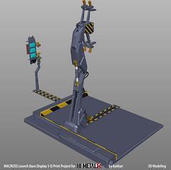LaunchArmBase_02 (kyewans) Tags: macross himetalr display base launch arm 3d print