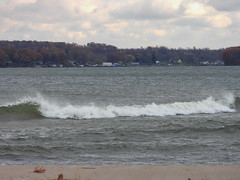 Bay Roller rs (Cathy Contant) Tags: soduspoint lakeontario lake greatlakes lighthouse pier waynecony wayne ny waves beach gale storm wind