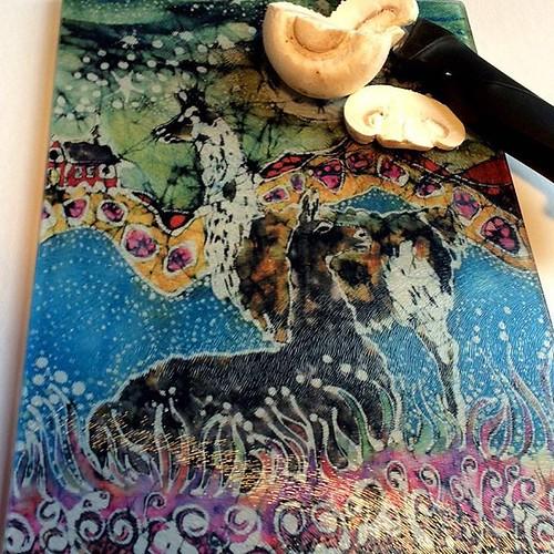 #etsy shop: Llamas Cutting Board -