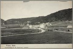 Postkort fra Agder (Avtrykket) Tags: bolighus hus postkort skog uthus vei tvedestrand austagder norway nor