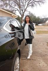 White December (Foxywalk) Tags: asian chinese heel white boots black leather lady portrait 過膝長靴 人像 長靴 靴 高跟靴 thighthigh knee overtheknee thighhigh 过膝长靴 白靴