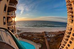 Perdido Key Sunrise (pac402) Tags: perdidokey perdido florida beach sunrise sea sky seascape fisheye wideangle wide condo gulfofmexico gulf pool