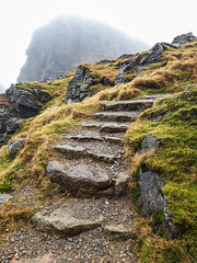 From out of the Mist - Jan 2019 (GOR44Photographic@Gmail.com) Tags: thecobbler arrocharalps argyll scotland mountain hill corbett steps mist gor44 loch long samsung a6 phone grass green cloud path