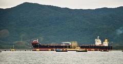 Un bateau au terminal pétrolier. (Claudia Sc.) Tags: sãosebastião brésil brasil brazil bateau