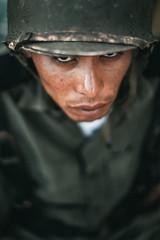Gaze (Luis Montemayor) Tags: soldier soldado movie tv narcos narcosmexico portrait retrato green verde helmet casco