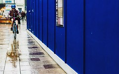 (photoksenia) Tags: cardiff bicycle street blue