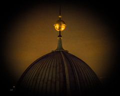 Gold Sphere (nickyt739) Tags: gold sphere copper dome berlin cathedral green germany europe capital city nikon dslr fx d750