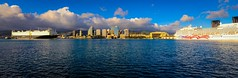 It's Aloha Friday ! - Skyline - Honolulu Harbor, Oahu, Hawaii (Dan Davila) Tags: honolulu oahu hawaii harbor ships ship boats boat sky water pacific ocean sea architecture buildings skyscrapers panorama city downtown cruise waterfront building bay skyline pride america tropics tropical aloha tower