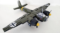 Junkers Ju-88 A-4 with 2XSC1200 bombs and 2XSC250 (John C. Lamarck) Tags: lego plane avion aircraft ww2 wwii war luftwaffe german junkers bomber