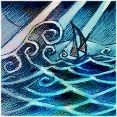 Daily #Art - Day 01-13-19 (hinxlinx) Tags: dailyart illustration digitalart digitalpainting lighthouse sailboat wave ocean tide boat sea light sunray safeharbor refuge hinxlinx ericlynxlin elynx artofinstagram