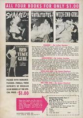 Quarter Books 31 - Luther Gordon - Wicked! (back) (swallace99) Tags: quarterbooks vintage 40s romance digest paperback advertisement ad advert shamed unfaithful weekendgirl bedtimegirl