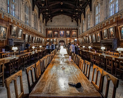 "The ""Hogwart's Dinner"" Hall, Christ Church, Oxford (Steve-Ross) Tags: christ church the hall harry potter oxford university"