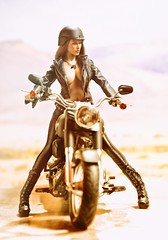 Harley 6 (Mr Action Figure) Tags: 16 16scale phicen tbleague seamless seamlessfigure female femalefigure motorcycle harleydavidson leather boots helmet sexy desert highway necklace sunglasses riding bike chrome brunette hot verycooltoys hottoys topless dogtags