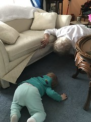 """Dani and Grandma Shirley Look for Maggie Under the Couch • <a style=""""font-size:0.8em;"""" href=""""http://www.flickr.com/photos/109120354@N07/40004609073/"""" target=""""_blank"""">View on Flickr</a>"""