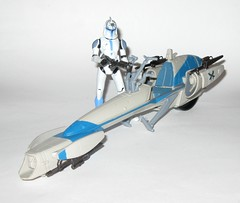 barc speeder bike with clone trooper jesse star wars the clone wars blue black packaging vehicle and figure 2010 hasbro f (tjparkside) Tags: barc speeder bike with clone trooper jesse star wars 2010 hasbro black blue packaging basic action figure figures vehicle vehicles clones troopers blaster blasters rifle rifles phase 1 i bikes speeders galactic battle game stand silver display base general grievous saleucami biker advanced recon commando commandos 501st white