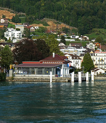 D20216x.  Departing from Weggis. (Ron Fisher) Tags: vierstättersee weggis lakelucerne schweiz suisse switzerland europe europa wasser water lake ship boot boat schiff see panasonic lumix tz90 panasoniclumixtz90