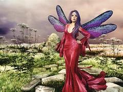 Impulsive Spirit's Pressed Fairy Collection # 18 (impulsive.spirit) Tags: slavatar secondlife sl faery fay fae fairy pink purple dragonflywings