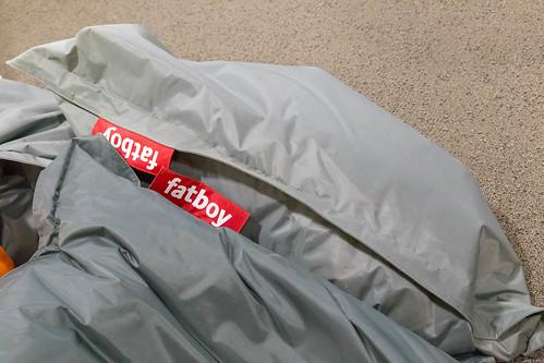 fatboy - ein mit Luft befüllter Sitzsack