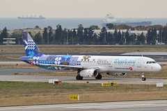 """""""Finike"""" Turkish Airlines TC-JRG Airbus A321-231 cn/3283 Painted in """"Turkey - Discover the potential"""" special colours 12-2015 @ LTBA / IST 24-11-2018 (Nabil Molinari Photography) Tags: finike turkish airlines tcjrg airbus a321231 cn3283 painted turkeydiscoverthepotential special colours 122015 ltba ist 24112018"""
