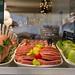 Hamburger mit Provolone und Speck in Rom