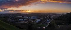 Caesar's camp (James Waghorn) Tags: nikkor35mmf18 folkestone urban nikon d7100 train track winter tree panorama kent sunset clouds england caesarscamp