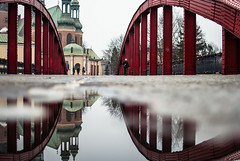 Arches (ewitsoe) Tags: winter reflection arches bridge poznan puddle poland urban city mood cold street cityscape cathedral ewitsoe nikon reflect chill