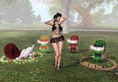 Ella the Bad Elf and her Crew (aerlinniel.roughneck) Tags: extra thelittlebat escalated amarabeauty bananabanshee bodify gomakeup jrwolfcreations livia lush mooh salacity suaveshapes thegachalife twe12ve
