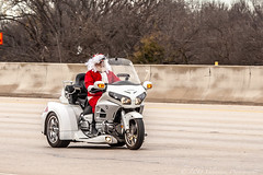 (Paul A Valentine) Tags: 1dmkiii bikes canon canon1diii christmas classic holiday motorcycles motorscooters parade tarrantcounty texas toyrun wheels wildwest