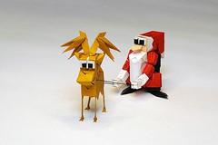 Reno and Papá Noel (Carlos González Santamaría AKA Halle) (De Rode Olifant) Tags: halle carlosgonzálezsantamaría marjansmeijsters origami 3d paper paperart papiroflexia diagrams modular origamisanta origamisantaclaus santaclaus reindeer origamireindeer reno papánoel unanavidadentusmanos
