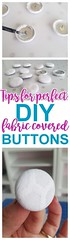 DIY Upholstery Fabric Covered Buttons - Tips, Tricks and Hacks to make them EASY and STURDY - Do it Yourself Step by Step Tutorial via Dreaming in DIY (Home Decor and Fashion) Tags: buttons by covered diy do dreaming easy fabric hacks it make step sturdy them tips tricks tutorial upholstery via yourself