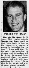 Werner / Wernher Von Braun (The Mandela Effect Database) Tags: residual evidence werner von braun presented by mandela effect database nasa nazi rocket name change mandala mandelaeffect research residue newspaperscom news newspapers german