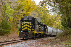 IN 2230 @ Bankers, MI (Michael Polk) Tags: indiana northeastern emd gp30 railroad freight train 2230 michigan hillsdale jonesville
