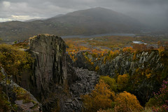 The grim and the beautiful. (PentlandPirate of the North) Tags: glynrhonwy slate quarry snowdonia dinorwic llanberis siemens rain autumn fall padarn elidirfawr