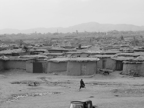 Afghan basti, a make-shift camp housing Afghan, and later Pakistani, refugees near Islamabad, Pakistan.