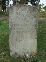 Captain H. J. Marsh (Living in Dorset) Tags: aldershotmilitarycemetery aldershot hampshire england uk gb grave headstone servicegrave 1931 captain hjmarsh royalarmyservicecorps