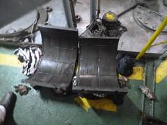 Resize of P1360518 (OpalStream) Tags: rudder marine vessel repair works overhauling workshop measurements filler gauge dirt