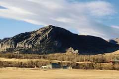 Nye, Montana (wyojones) Tags: montana nye butte tree mountain ridge school nyeschool homes cliff rugged hills town fields stillwaterriver stillwatercounty wyojones