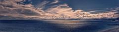PANO-20180001 (anyera2015) Tags: ceuta canon 70d canon70d atardecer nubes playa siluetas nublado hdr ribera panorámica panorama azul