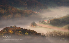 Morning mist (hoangcuongnokia8800) Tags: 500px sunrise fog mist autumn colours house travel slovenia slovenija landscape morning valley light nature