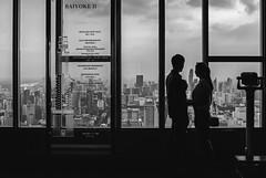 Bangkok view up here at Baiyoke Tower II. (Andy @ Pang Ket Vui ( shootx2 )) Tags: skyscraper hotel floor building view bangkok buildings fujifilm x100f 84th 88th sky observation deck black white wclx100ii khwaengthanonphayathai khetratchathewi krungthepmahanakhon10400thailand rooftop tallest