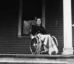 Polio Girl 1930s (jackcast2015) Tags: handicapped disabledwoman crippledwoman wheelchair paralysed poliogirl legbraces calipers polio woman poliowoman infantileparalysis