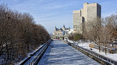 The Canal almost ready for skating (GEMLAFOTO) Tags: rideaucanal ottawa skating winter hiver patiner patinoire patinoireducanalrideau canalrideau