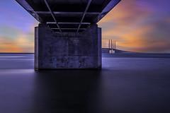 Øresund bridge (AndreasNikon) Tags: nikon d600 14242 8 sunset color öresundsbron färg soft winter water sweden sverige skåne ngc sky longexposer nohdr nocrop
