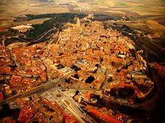 Segovia (alfonsocarlospalencia) Tags: segovia cenital centro de interpretación del acueducto paisaje aire triángulo copia infancia recuerdos amor familia orige origen luz frío nieve robado