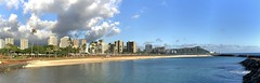 7 Image Magic Island to Diamond Head (Fletch in HI) Tags: apple iphone8 alamoana magicisland diamondhead waikiki water sky clouds beach buildings trees ocean oahu hawaii honolulu msice