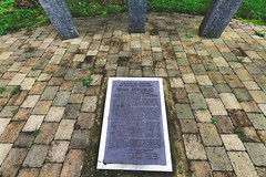 1916 GARDEN OF REMEMBRANCE [STATION ROAD LEIXLIP]-148221 (infomatique) Tags: 1916 memorial 1916gardensofremembrance leixlip countykildare stationroad easterrising williammurphy infomatique fotonique streetsofireland sony a7riii sigma 14mmlens wideanglelens
