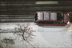 red-van_bike_snow_asphalt_topdown_01_8780061942_o (wvs) Tags: cold frozen night snow toronto ontario canada can