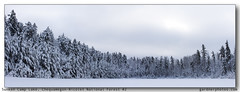 Sunken Camp Lake, Chequamegon-Nicolet National Forest #2 (gardnerphotos.com) Tags: winter wisconsin c snow trees forest white lake panorama gardnerphotoscom chequamegonnicolet nationalforest northernwisconsin